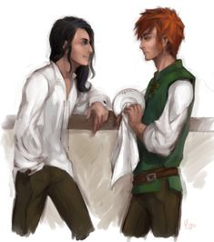 Kvothe and Bast by AlyaW (LIKE www.facebook.com/eoliantavern)