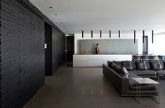 This urban residence, set in the heart of Tel Aviv was designed for a fashion designer and owner of a boutique and brand bearing her name & JERRY Open Space Living, Living Area, Living Room, Dark Interiors, Colorful Interiors, Loft Style Homes, Pitsou Kedem, Open Layout, Apartment Design