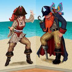 Pirate Party Scene Setter Add-on Props Decorations - Bonny Blade & Calico Jack | eBay