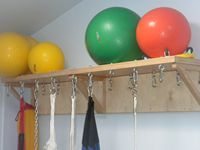 Equipment Shelf - Hang 16 of your favorite Sensory Swings, stack up your Weighted Blankets or store away your FitBALL Exercise Equipment. No matter what the Therapy Equipment be, make sure you're organized with our Equipment Shelf.