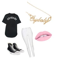 """Melanie's Crybaby"" by xultimatefangirlx on Polyvore featuring Danielle Guizio, Topshop and Converse"