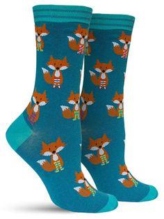 Fox in Socks Awesome Animal Novelty Sock for Women