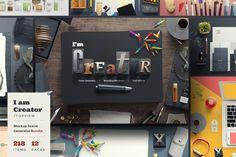[FREE] I am Creator / Topview #lstore_iamcreator #lstore_free #design #mockups #branding #brandingdesign #goodies #graphicdesignblog #graphictools