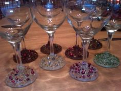 Encrusted jewelled wine glasses