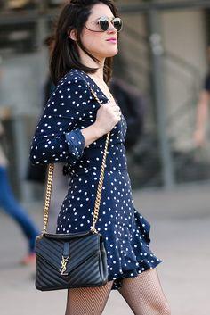Combinaison à pois Zara sac Yves Saint Laurent L'atelier d'al blog mode lifestyle street style Paris