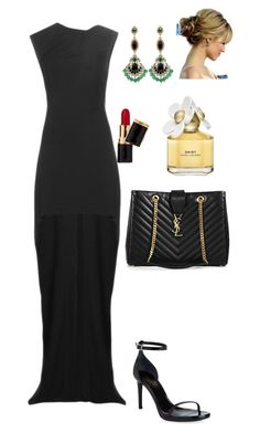 """Untitled #1888"" by janglin725 ❤ liked on Polyvore featuring Yves Saint Laurent, Badgley Mischka, Marc Jacobs, women's clothing, women's fashion, women, female, woman, misses and juniors"