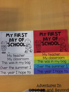 First Day of School - Have your students make this cute First Day of School flip book to help them remember their very first day!  This fun book will include a page about their teacher, their classroom, what is in their backpack,what they did over the summer and what they hope to learn this year.This Back to School Flip Book is a quick activity that is perfect for the first day or week back to school.
