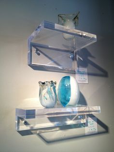 Lucite Lux® shelving shows off your favorite objects.