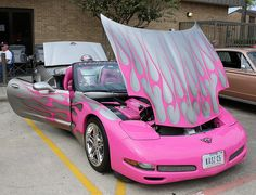 2002 Corvette by Bill Jacomet, via Flickr OK so this might be my next hot pink car.