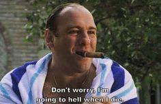 Tony Soprano - The Sopranos Tony Soprano, Best Tv Series Ever, Best Tv Shows, Al Pacino, Series Movies, Movies And Tv Shows, Les Sopranos, Jessica Day, Steve Buscemi