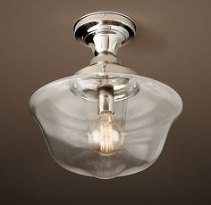 Architectural & Garden Strong-Willed Antique Socket Flush Mounted Glass Front Art Deco Old Vintage