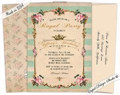 Elegant 80th birthday invitation Pink and gold Birthday invitation