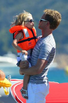 Neil Patrick Harris and his daughter, Harper Grace holidaying in St. Tropez on August 9, 2013.