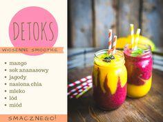 Odchudzające przepisy: dwukolorowe smoothie z mango i jagód