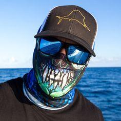 Salt Armour Fish Slayer Face Shield Sun Mask Balaclava Neck Gaiter Bandana USA #SaltArmour #FaceShield