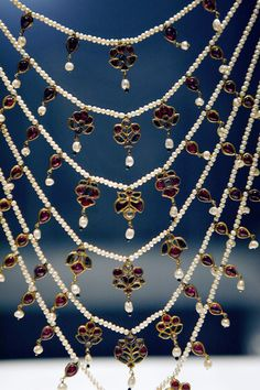 Mughal Jewels Ruby & Pearl String Necklace