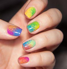 Holi nail art nail art by Chasing Shadows