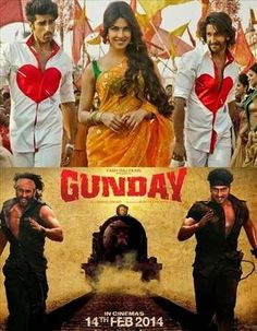 Gunday 2014 Hindi 650MB BluRay 720p ESubs HEVC
