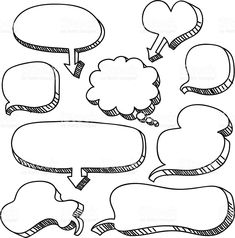 Sketch drawing of Conversation bubbles, with shadow. Bullet Journal School, Bullet Journal Headers, Bullet Journal Banner, Bullet Journal Writing, Bullet Journal Notebook, Bullet Journal Ideas Pages, Bullet Journal Inspiration, Sketch Notes, Lettering Tutorial