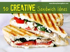 10 creative sandwich ideas ~ If you're looking for simple, lunch box-friendly, kid-approved sandwiches that require minimal prep time, this list is for you! Many of these sandwiches can be made in advance and frozen… and ALL of them can be eaten cold or at room temperature.