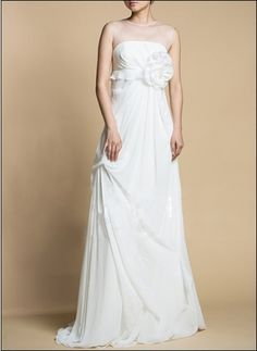 Empire gown with romantic flower detail