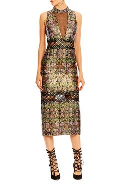 Nordic Flower Illusion Dress, Nicole Miller Dresses,