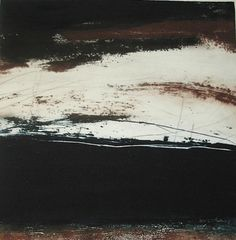 Red Earth/ by Ross Loveday/        (dry point and carborundum, 43 x 43 cm)