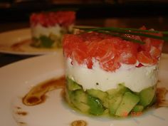 Tortino salmone avocado