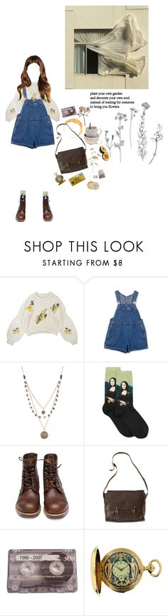 """decorate your own soul"" by coffee-and-jazz ❤ liked on Polyvore featuring Alicia Marilyn Designs, HOT SOX, Red Wing, nette' Leather Goods, CASSETTE, Le Sentier, Rose & Co. and vintage"
