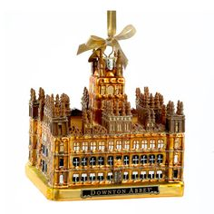 Downton Abbey Castle 4 1/4-Inch Glass Holiday Ornament