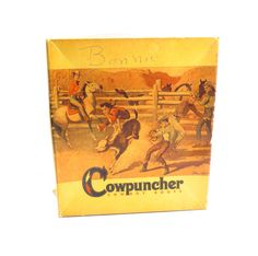 Cowpuncher Cowboy Boots Box Vintage 1950s John by VintageCreekside