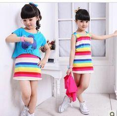 envío gratuito de los niños 2013 chaleco vestido de ropa para niños niñas vestido de verano vestido de