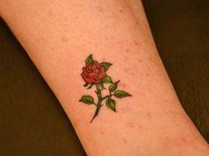 Small Rose Tattoo Illustrator Tattoo | Ruth Tattoo Ideas