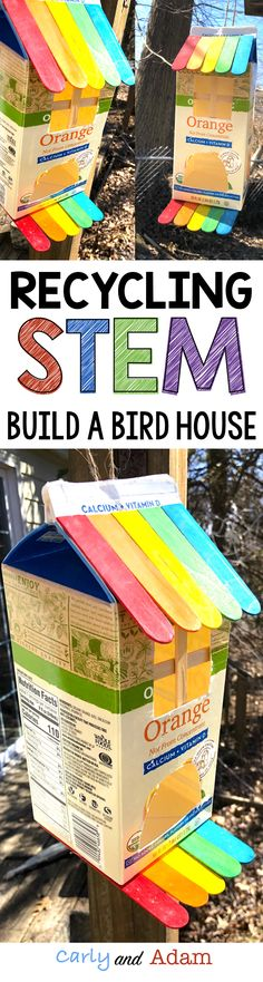Engage students on Earth Day with this Recycling STEM challenge! Students collect and build a birdhouse from various recyclables. They must use money to budget how much of each item to purchase before designing and building their birdhouse.