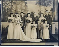 My Grandparents on their wedding day- April 29, 1945.