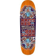 ef9994ab Krooked Skateboards Krooked Dan Drehobl Mystic II Deck Orange Stain  9.25x31.75