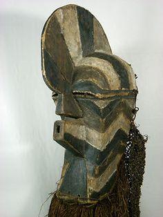 Superb African Tribal Mask SONGYE Kifwebe Mask African Art Collectible