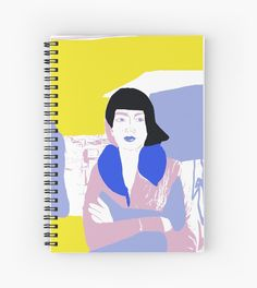 Waiting Mixed Media Illustration Spiral Notebooks 120 pages Cover 350gsm, paper stock 90gsm Front cover print from an independent designer Available in a selection of ruled or graph pages Handy document pocket inside the back cover