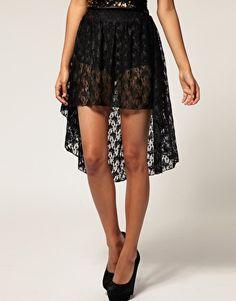 Rare Lace Hi Lo Hem Skirt