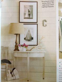 Loving the asymmetry of this! Designed by Cathy Chapman and featured in Coastal Living.
