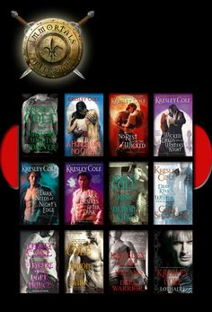 Immortals After Dark Series by Kresley Cole:  ■ A Hunger Like No Other    ■ No Rest for the Wicked    ■ Wicked Deeds on a Winter's Night    ■ Dark Needs at Night's Edge   ■ Dark Desires After Dusk    ■ Kiss of a Demon King    ■ Pleasure of a Dark Prince    ■ Demon from the Dark    ■ Dreams of a Dark Warrior   ■ Lothaire