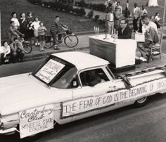 McNeese State University Homecoming float in the 1959 parade. Historic Photographs of Southwest Louisiana
