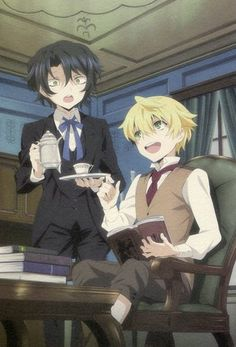 Pandora Hearts big postcard official Japan Oz Vessalius Gilbert Nightray