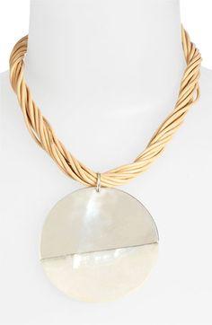 Simon Sebbag 'Bora Bora' Leather Pendant Necklace available at #Nordstrom