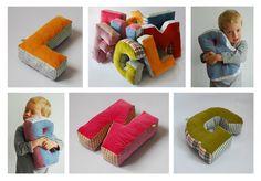Kissen - Ein Kuschel Buchstabe, ABC, Buchstaben Kissen - ein Designerstück von maii-berlin bei DaWanda