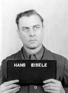 Dr. Hans Eisele was tried in the Buchenwald case at Dachau. On June 28, 1948, a new War Crimes Board of Review reduced Dr. Eisele's Buchenwald death sentence to life in prison. In August 1948, another commission recommended that his Buchenwald sentence be reduced to 10 years in prison, but his life sentence was confirmed in December 1948.
