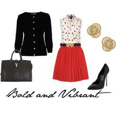 bold & vibrant work attire