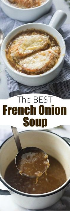 Making truly authentic French Onion Soup is easier than you think! This wonderful, simple and flavorful soup is the perfect warm dish for winter! | Tastes Better From Scratch
