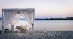 A romantic dinner in our private beach
