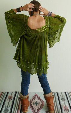 Farb- und Stilberatung mit www.farben-reich.com - Flatter Tunika ♥ANGEL WINGS♥Mexiko Spitze  von NEWMEXICAN auf DaWanda.com